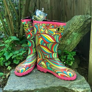 BUFFY BOOTS Psychedelic Sister Rain Boots